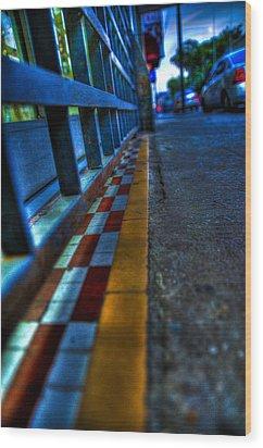 Cracks In The Pavement Wood Print by Sarita Rampersad