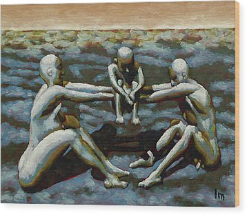 Cradle Wood Print by Leo Mazzeo