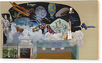 Cradle Of Aviation Museum Imax Theatre Wood Print