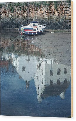 Crail Reflection I Wood Print