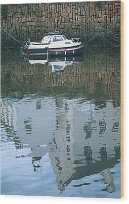 Crail Reflections II Wood Print