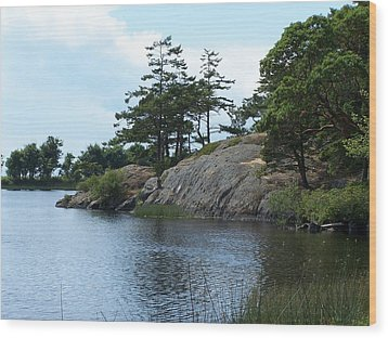 Cranberry Lk. Whidbey Island Wood Print by Gene Ritchhart