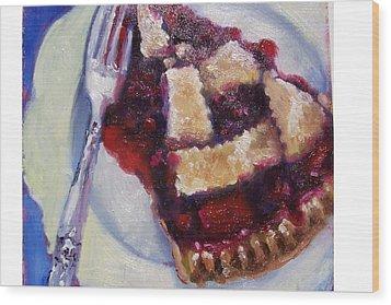 Cranberry Raisen Pie         Wood Print by Susan Jenkins