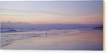 Crane's Pastel Morning Wood Print by Cheryl Waugh Whitney