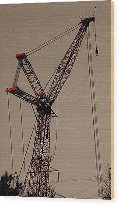 Crane's Up Wood Print