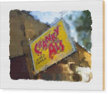 Cranky Al's Wood Print