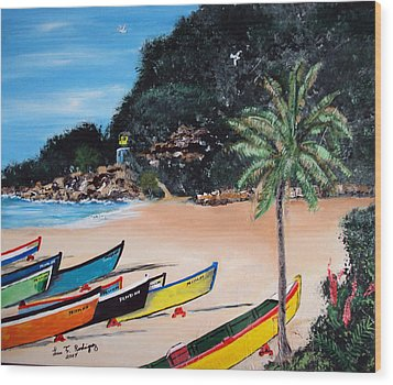 Crashboat Beach I Wood Print by Luis F Rodriguez