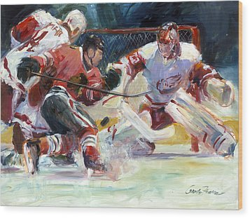 Crashing The Net Wood Print by Gordon France