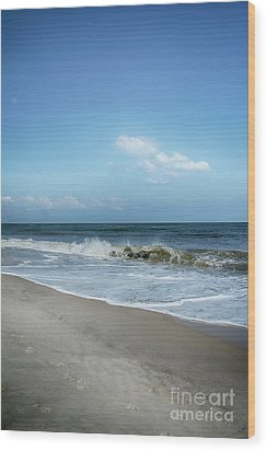 Crashing Waves Wood Print by Judy Hall-Folde