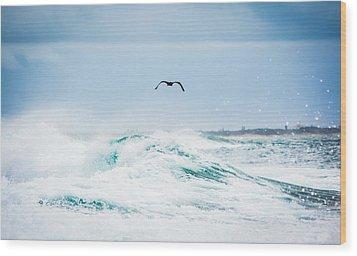 Crashing Waves Wood Print by Parker Cunningham
