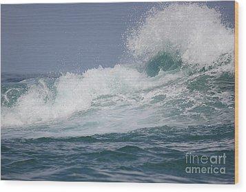 Crashing Waves Wood Print by Wilko Van de Kamp