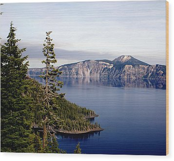 Crater Lake 3 Wood Print by Marty Koch