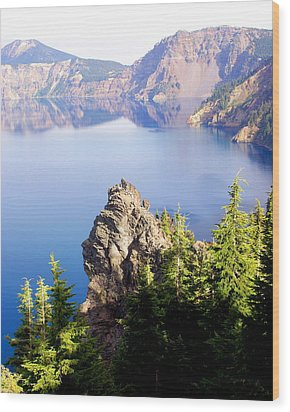 Crater Lake 4 Wood Print by Marty Koch