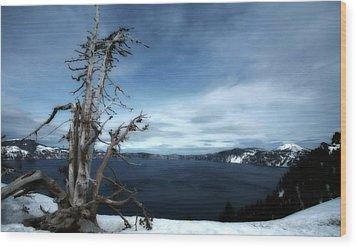 Crater Lake Wood Print by Bonnie Bruno