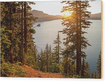 Crater Lake Wood Print by Brian Harig