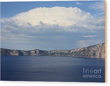 Crater Lake Wood Print by Carol Groenen