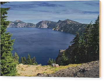 Wood Print featuring the photograph Crater Lake View by Frank Wilson