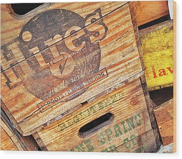 Wood Print featuring the photograph Crates For Hires by Olivier Calas