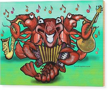 Crawfish Band Wood Print