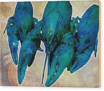 Crawfish Blues Wood Print by Stranger  Mojo