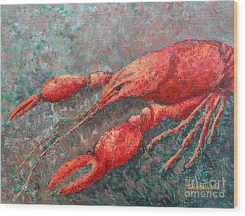 Crawfish Wood Print
