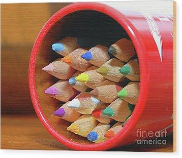 Crayons Wood Print by Graham Taylor
