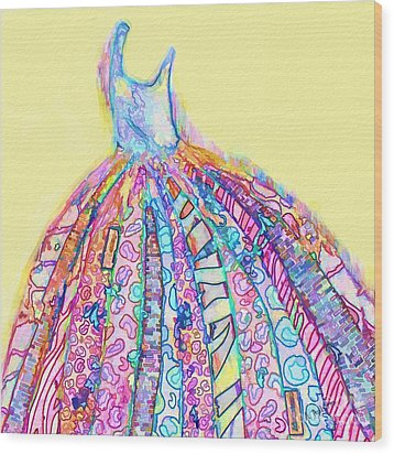 Crazy Color Dress Wood Print by Andrea Auletta