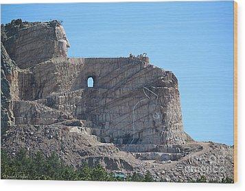 Crazy Horse Wood Print