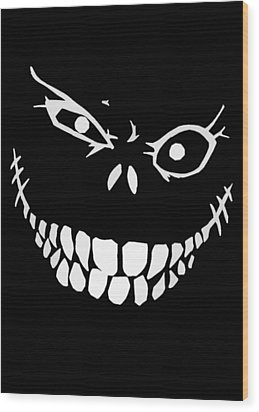 Crazy Monster Grin Wood Print by Nicklas Gustafsson