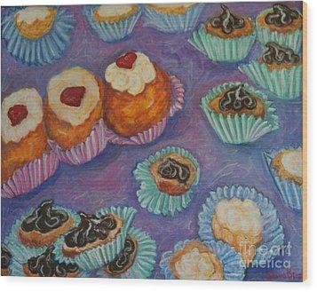 Cream Puffs Wood Print by Sherri Bramlett