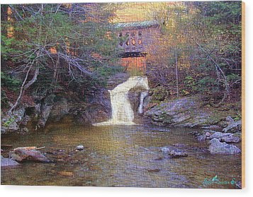 Creamery Bridge Wood Print