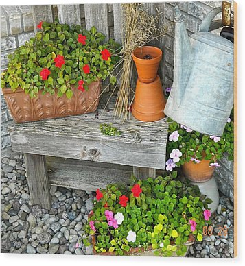 Creative Garden Setting Wood Print
