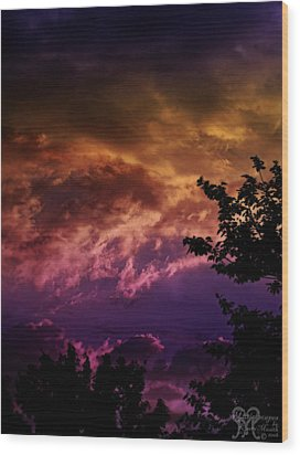 Wood Print featuring the photograph Creative Sunset by Karen Musick