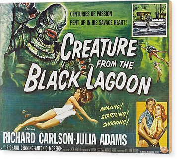Creature From The Black Lagoon, Upper Wood Print by Everett