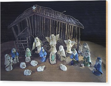 Creche Top View  Wood Print by Nancy Griswold