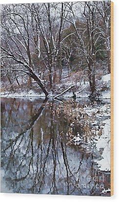 Creekside Wood Print by Nicki McManus