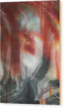 Creep Wood Print by Linda Sannuti