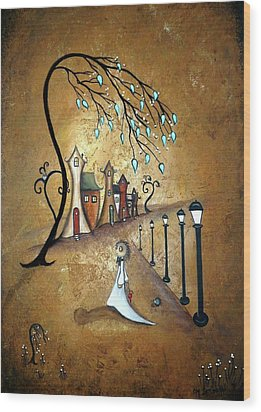 Creeper Village Wood Print by Charlene Zatloukal