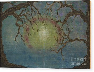 Wood Print featuring the painting Creeping by Jacqueline Athmann