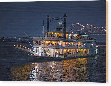 Creole Queen Riverboat Wood Print