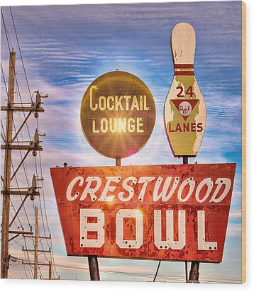 Crestwood Bowl Wood Print by Robert  FERD Frank