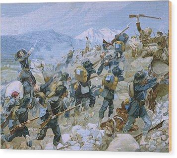Crimean War And The Battle Of Chernaya Wood Print by Italian School