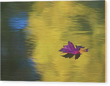 Wood Print featuring the photograph Crimson And Gold by Steve Stuller