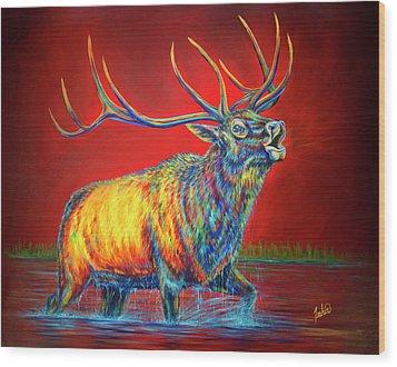 Crimson Cries Wood Print