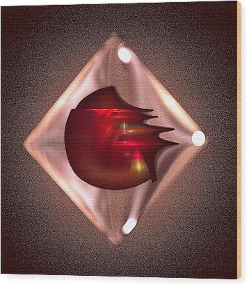 Crimson Heart Wood Print by Viktor Savchenko
