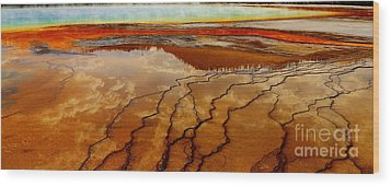 Wood Print featuring the photograph Crimson River by Robert Pearson