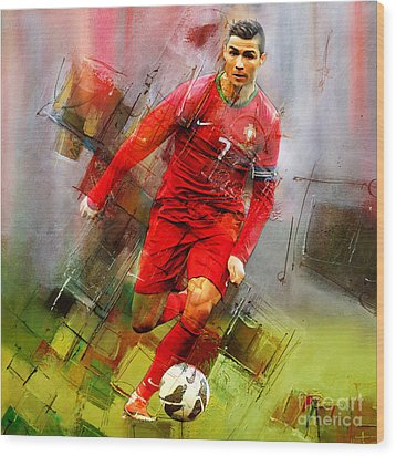 Cristiano Ronaldo  Wood Print by Gull G