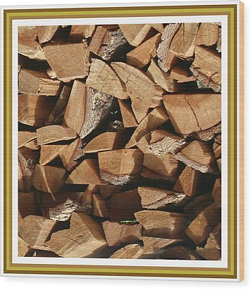 Wood Print featuring the photograph Cutie Critter In The Wood Pile by Jack Pumphrey