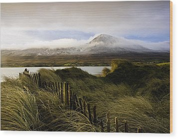 Croagh Patrick, County Mayo, Ireland Wood Print by Peter McCabe