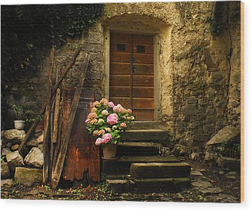Croatian Stone House Wood Print by Don Wolf